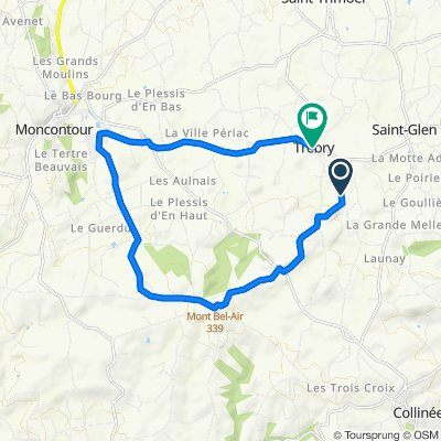 De Le Bos Marqué, Trébry à D44b, Trébry