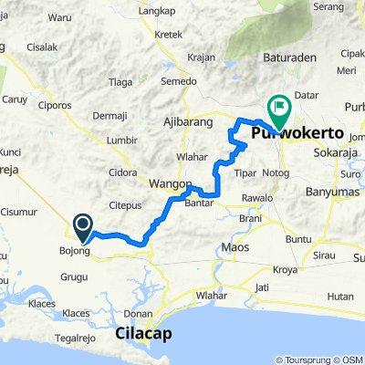 Kawunganten, Kecamatan Kawunganten to Dukuh, Kecamatan Purwokerto Barat