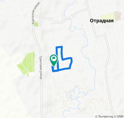 От улица Толстого, 29, Отрадная до улица Толстого, 31, Отрадная