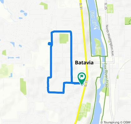 318 Elm St, Batavia to 328 Elm St, Batavia