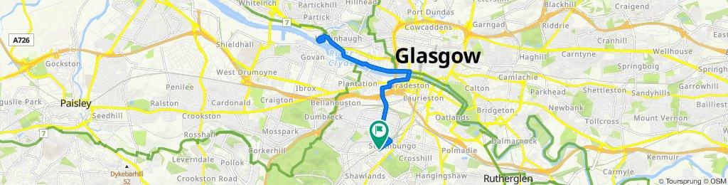 44 Thorncliffe Gardens, Glasgow to 37 Moray Place, Glasgow