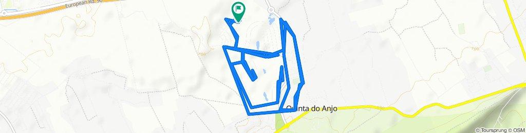 Rota desde Rua Mário de Sá Carneiro, Quinta do Anjo