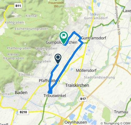 Route nach Wiener Straße 51, Gumpoldskirchen