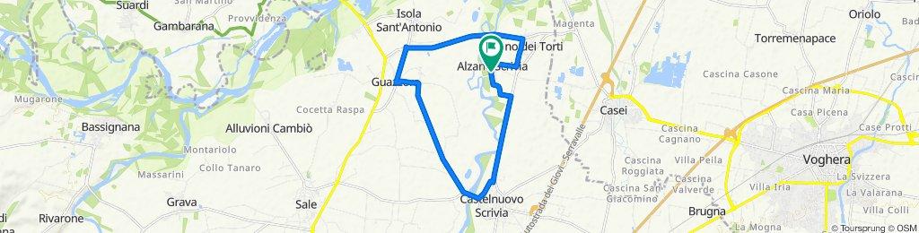 Da Via Megardi 9, Alzano Scrivia a Via Megardi 9, Alzano Scrivia