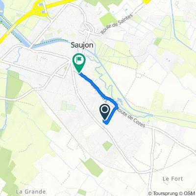 De 2 Impasse des Roses, Saujon à 17 Rue Thiers, Saujon