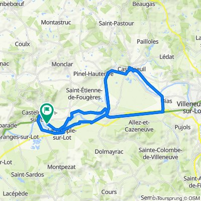 De 3 Lalande Bas, Castelmoron-sur-Lot à 3 Lalande Bas, Castelmoron-sur-Lot