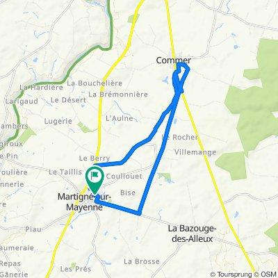 De 4 Résidence du Verger, Martigné-sur-Mayenne à 4 Résidence du Verger, Martigné-sur-Mayenne