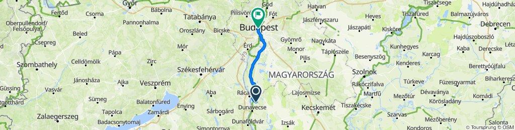 Bacsó Béla utca 13, Szalkszentmárton to Szépvölgyi út 4, Budapest