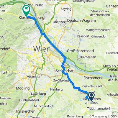 Hintausstraße, Margarethen am Moos nach Kierlinger Straße 112–126, Klosterneuburg