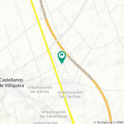 Ruta a Vereda Camino de la Mata, 1–3, Castellanos de Villiquera
