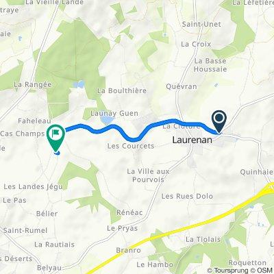 De 1 Rue de l'Étrat, Laurenan à Carguier, Plémet