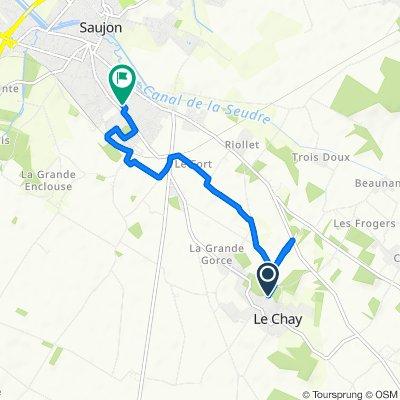 De 4 Rue des Robins, Le Chay à 1–1A Impasse des Roses, Saujon