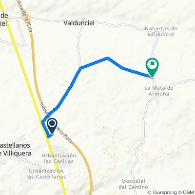 De Vereda Camino de la Mata, 1–3, Castellanos de Villiquera a DSA-612, Castellanos de Villiquera