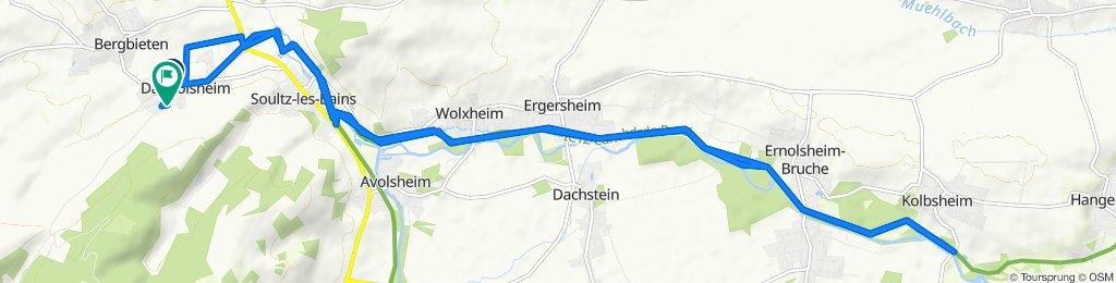 De 17 Rue du Village, Dangolsheim à 12 Rue de l'École, Dangolsheim