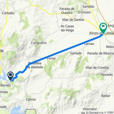 De OU-1202, Muíños a Avenida de Madrid 75, Ginzo de Limia