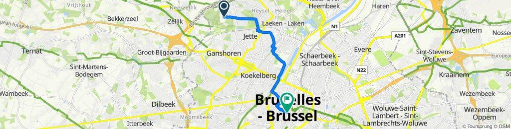 Laarbeeklaan 101, Jette to Place de la Vieille Halle aux Blés 18, Brussel
