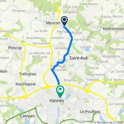 Chemin de la Truite, St-Avé to 31 Rue du Lieutenant-Colonel Maury, Vannes