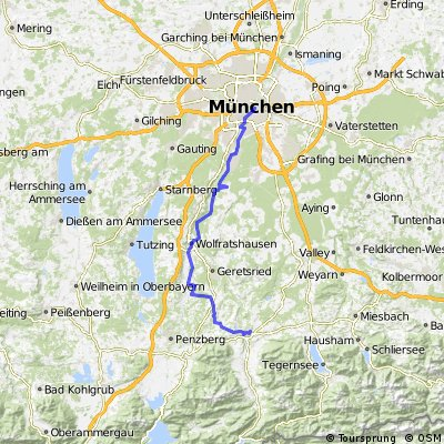 Munich to Bad Tölz via Wolfratshausen