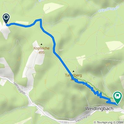 Trailpark Weidlingbach - Flow-Line, mit Zufahrt von der Windischhütte (über Kahlenbergerdorf-Strecke)