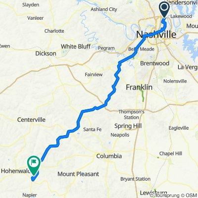 1001–1061 Joyce Ln, Nashville to Meriwether Lewis Campground Spur Trail, Hohenwald