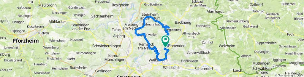 E-Biketour im eco modus  Schwaikheim nach Schwaikheim