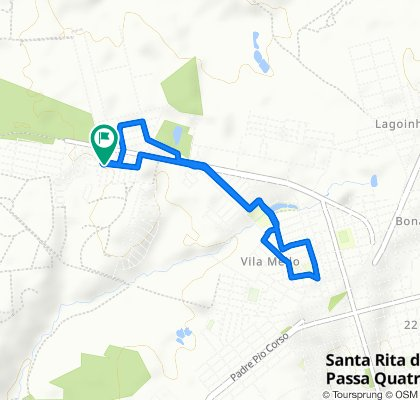 De Rua Guerino Mardegan, 547–579, Santa Rita do Passa Quatro a Rua Francisco Pizzo, 92–210, Santa Rita do Passa Quatro