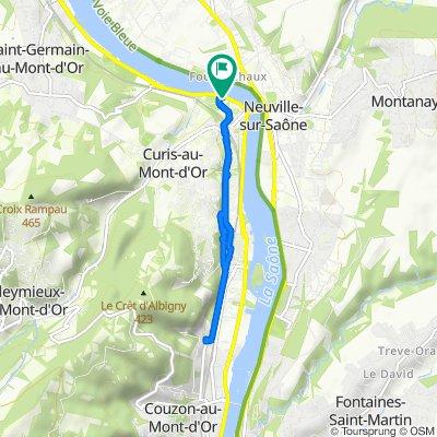 De 1 Quai de Villevert, Albigny-sur-Saône à 1 Quai de Villevert, Albigny-sur-Saône