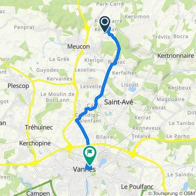 Route to 27B Rue du Lieutenant-Colonel Maury, Vannes