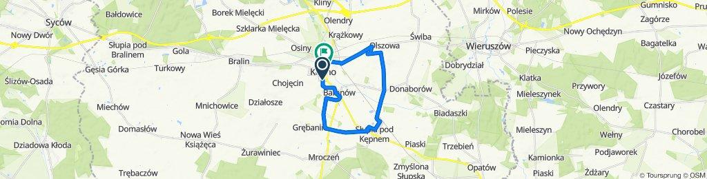 Sienkiewicza 41, Kępno do Rynek 17–21, Kępno