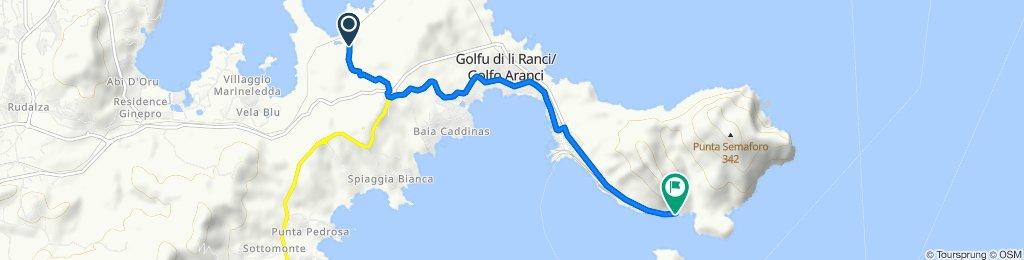 Percorso da Cala Sabina, Golfo Aranci