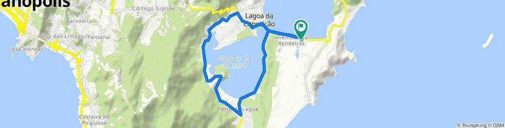 De Avenida das Rendeiras, 1402, Florianópolis a Avenida das Rendeiras, 1402, Florianópolis