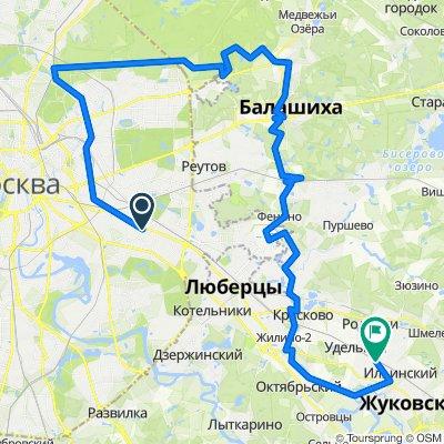От Рязанский проспект 30 строение 1, Москва до Пристанционная площадь 1, Быково Рц