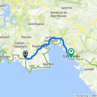 De 110 Route de Mestrezec, Fouesnant à 2 Rue Amiral Courbet, Concarneau