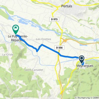 De 85 Boulevard de la Plaine, Meyrargues à 75 Boulevard de la Coopérative, Le Puy-Sainte-Réparade