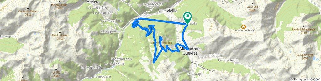 De Pré Claous, Château-Ville-Vieille à Pré Claous, Château-Ville-Vieille