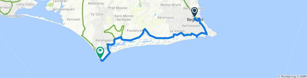 De 22 Rue des Glénan, Fouesnant à 171–173 Route de la Pointe de Mousterlin, Fouesnant