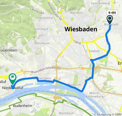Bierstadter Höhe 76, Wiesbaden nach Krokusweg 1–5, Walluf