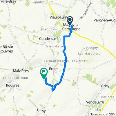 Itinéraire à partir de 4 Rue de la Nouvelle École, Magny-la-Campagne