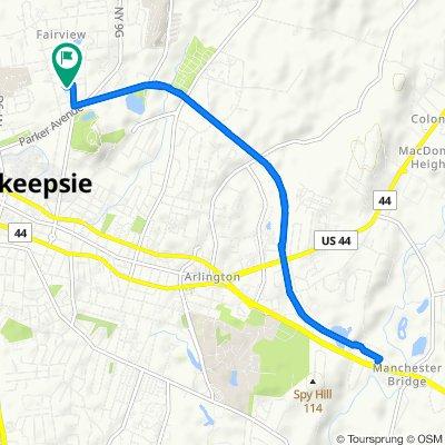 Kelsey Road 38, Poughkeepsie to Hinkley Place 6, Poughkeepsie