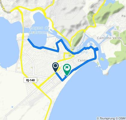 De Avenida Teixeira de Souza, 1601, Cabo Frio a Rua Nathanael Ribeiro de Almeida, 200, Cabo Frio