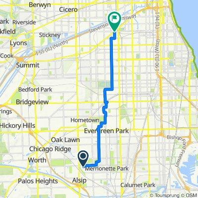 11534 S Kolmar Ave, Alsip to 3871 S Archer Ave, Chicago