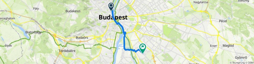 Kacsa utca 14b, Budapest to Virág Benedek utca 35, Budapest
