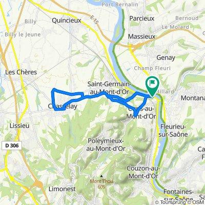 De 1 Quai de Villevert, Curis-au-Mont-d'Or à 1 Quai de Villevert, Albigny-sur-Saône