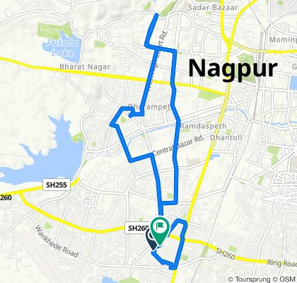 Route from Nagpur