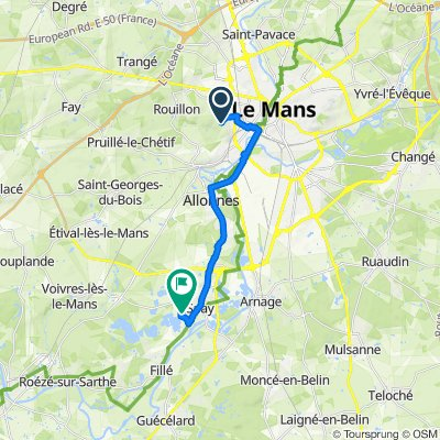 Itinéraire à partir de 22 Chemin de Château-Gaillard, Le Mans