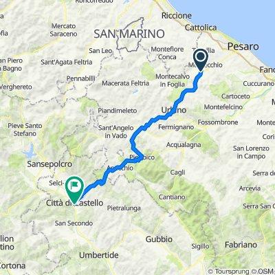 Giorno 1 da Urbino a Citta di Castello