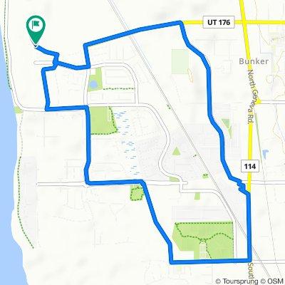 600–698 N Fall Creek Dr, Vineyard to 254 W Silver Springs Dr, Vineyard