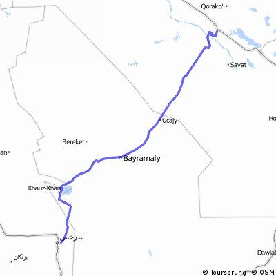traversée turkménistan