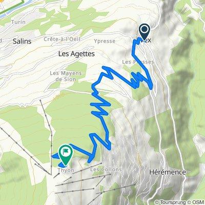 Vex-Thyon 13 km (1.150 hm)
