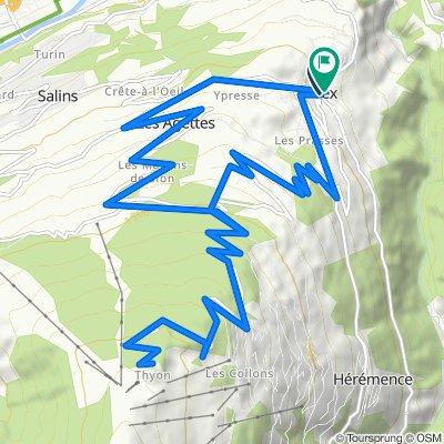 Vex-Thyon-Vex 27 km (1.150 hm)
